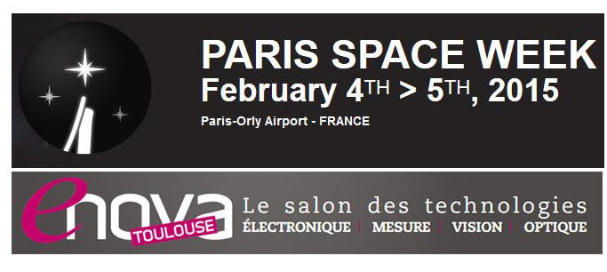 Bandeaux salons Paris Space Week et Enova Toulouse